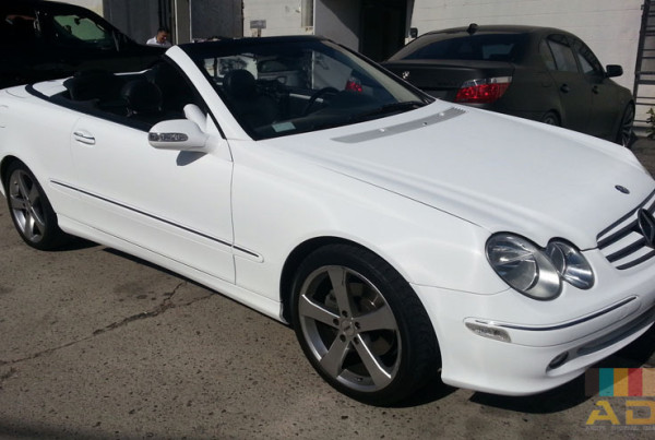 White Matte Mercedes Benz Custom Car Wrap
