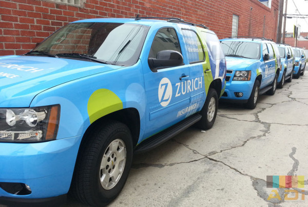 Zurich Insurance company uses fleet wrap for company car