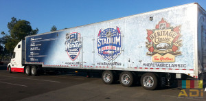 MLB Winter Classic Truck Side Wrap