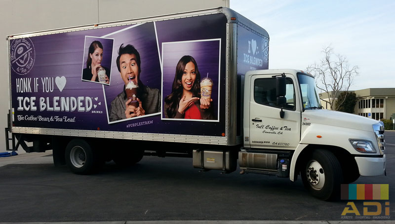 Coffeebean Ice Blended Truck Side Wrap