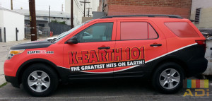 Greatest hits on Earth Radio Truck Wrap