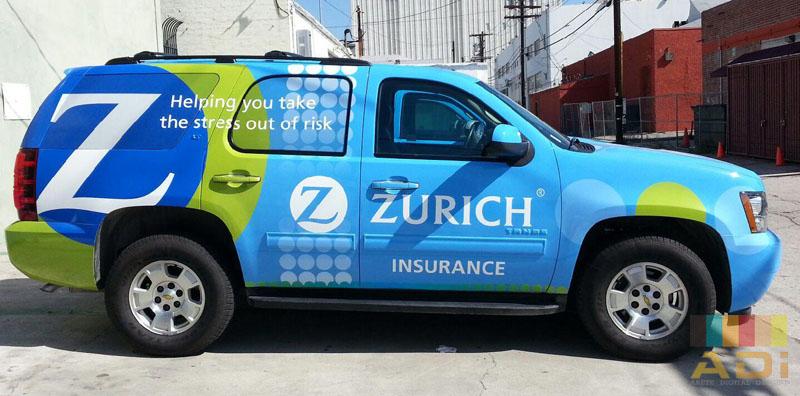 Zurich Insurance company uses fleet wrap for company car