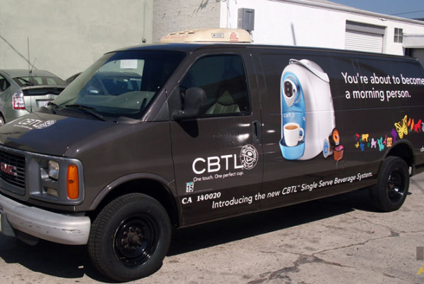 Coffee Bean Become a Morning Person Van Wrap