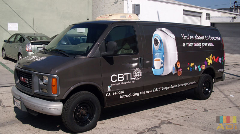 Coffee Bean Become a Morning Person Van Wrap