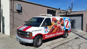 Zankou Chicken Delivery Van Wrap, Delivery Van Wrap, Advertisement Van Wrap, Vehicle Advertisement Van Wrap, Van Wrap