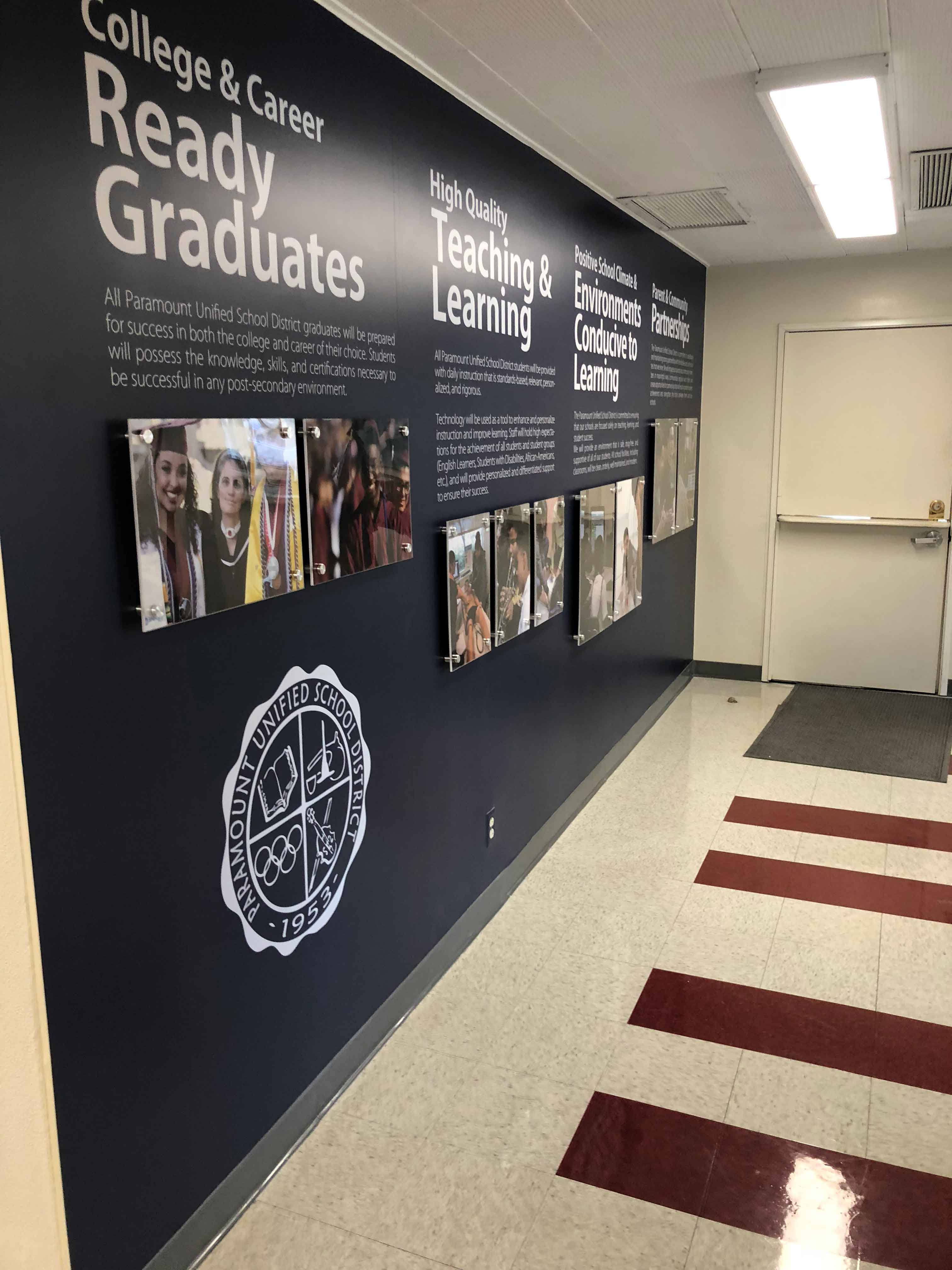 Paramount Unified School District Wall Graphics
